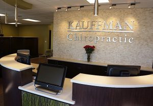 BEST COMMERCIAL INTERIOR DESIGN COMPANY HDW Interiors Inc., Merrillville and South Bend. Pictured is a project for Kauffman Chiropractic.
