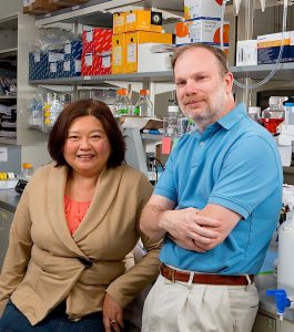 NOTRE DAME RESEARCH EXPERTISE Mayland Chang is conducting a five-year study of wound healing in diabetics, while Jeff Schorey is working on a diagnostic test for tuberculosis.