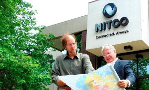 TELECOM REVOLUTION Tom Carroll, senior vice president of sales and marketing, and Tom Long, president, are part of the growth story at Nitco in Hebron, established in the 1890s.