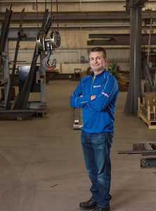 """'SERVICE' IS IN OUR NAME"" Tom Schmidt is founder and president of Elkhart-based Hoosier Crane Service Co."
