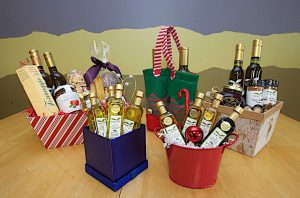 TASTY OLIVE OIL CO. Oils of many varieties, plus vinegars and specialty products to fill a gift basket.