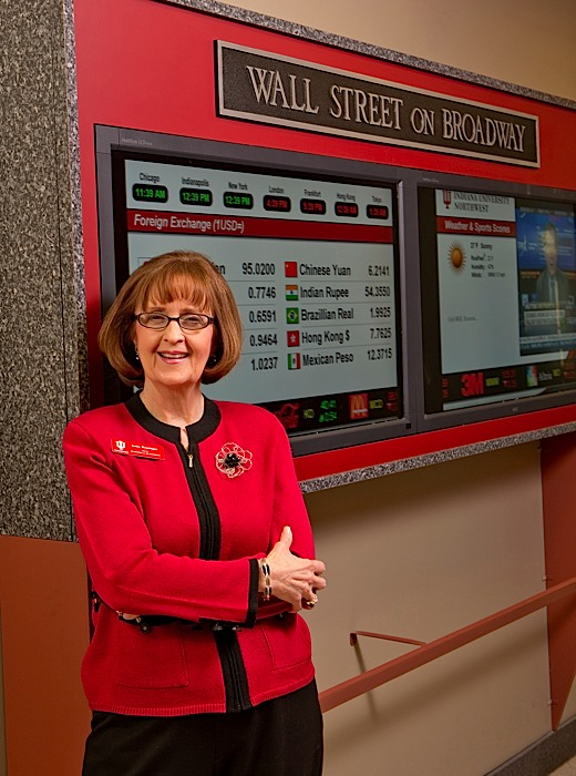 BEST UNIVERSITY TO OBTAIN AN MBA: Indiana University Northwest, Gary, with Anna Rominger, dean of the business school.