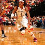 STANDOUT GUARD Shavonte Zellous scored in double-digits in 21 games during her rookie season with the Indiana Fever.
