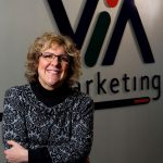 """ I TRY TO MAKE THINGS BETTER FOR WOMEN"" Julie Olthoff, founder and president of Via Marketing."