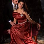 MADE TO MATCH Mark Roscoe designs fashions for women and matching ties for spouses.