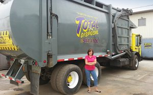 """MY CHILDREN COME FIRST"" Carol Hiskes co-owns Total Disposal with husband Mark."