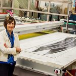 """""""WOMEN HELPING OTHER WOMEN"""" Karen Barnett is CEO, president and owner of Valley Screen Process Co. in Mishawaka."""