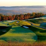 NATIONAL EVENTS The Pete Dye Course at French Lick hosted the 2015 Senior PGA Championship and will welcome the LPGA's Legends Championship in August.