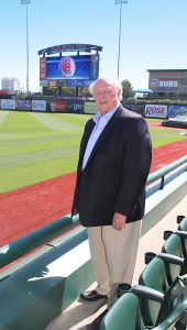 IT'S A HIT John Phair, managing partner, president and CEO of the South Bend-based Holladay Properties, pictured at Four Winds Field, home of the South Bend Cubs.
