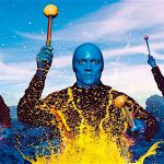 BLUE MAN GROUP Chicago's Briar Street Theater is the place to see the rhythmic, cobalt-blue trio.