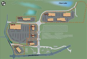 RETAIL AND MEDICAL USERS Holladay Properties has spearheaded the 46-acre NewPorte Landing redevelopment project in LaPorte.
