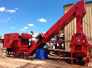 CHOPPING WOOD Pioneer Packaging has invested in powerful equipment to turn wood scrap into animal bedding.