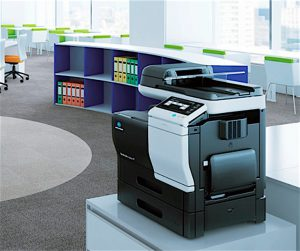 BEST PLACE TO PURCHASE OFFICE EQUIPMENT & SUPPLIES McShane's Business Products & Solutions, Munster. Pictured here is a Minolta multi-function machine.