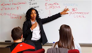 BEST UNIVERSITY TO OBTAIN AN MBA Indiana University Northwest, Gary. Pictured here is Demetra Andrews, assistant professor with the School of Business and Economics.