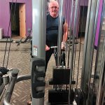 A GOOD HABIT Dave Lain works out regularly at Anytime Fitness in Valparaiso.