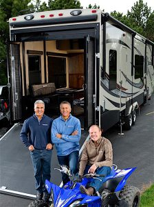 """""""PEOPLE WITH KNOW-HOW"""" Bill Fenech, Ron Fenech and Don Clark founded Middlebury-based Grand Design RV in 2011, citing a high level of confidence in the industry, the local economy and the skills of the local workforce."""