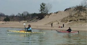 NWIPA members paddling canoes and kayaks along the waterways of Northwest Indiana.