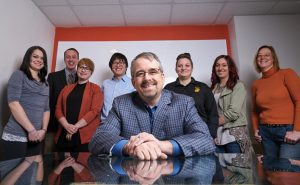 2017 Best Ad Agency / Marketing Company, JM2 Marketing, Valparaiso. Pictured is John Marx and his staff.