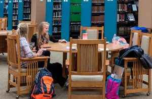 2017 Best University to Attain an MBA Purdue Northwest, also selected Best University for a Technical Degree. Students studying at the Purdue NW Westville campus library.