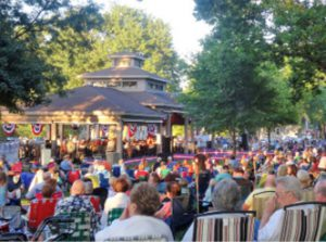Northwest Indiana Symphony performs in Griffith's Central Park as part of the 2017 South Shore Summer Music Festival.