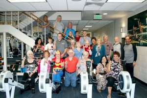 Community Hospital Fitness Pointe indoor rowing team