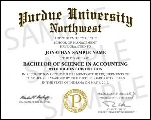 Purdue NW Diploma