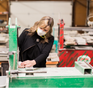 Julie Rizzo, the founder of Recycled Granite