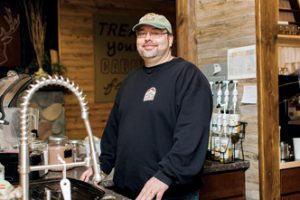 Jeff Conti, owner of the Coffee Cabin