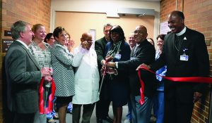 Ribbon cutting for maternal center