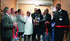 Ribbon cutting for maternal center