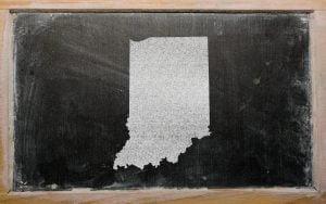Indiana on chalkboard