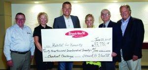 Strack & Van Til check to Habitat for Humanity