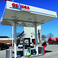 Compressed natural gas station in Gary, Ind.
