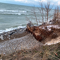 Efforts are ongoing to protect the Lake Michigan shoreline in Beverly Shores.