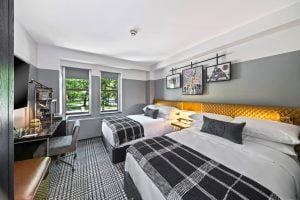 Purdue hotel room
