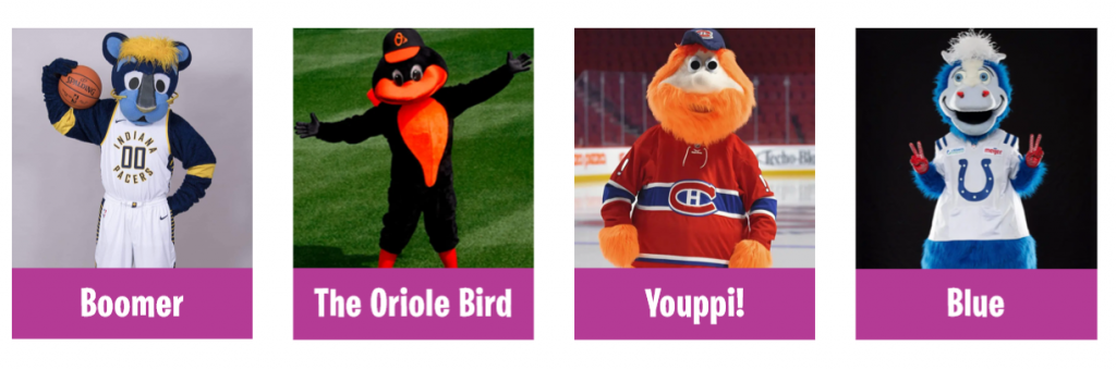 Mascot Hall of Fame 2020 inductees