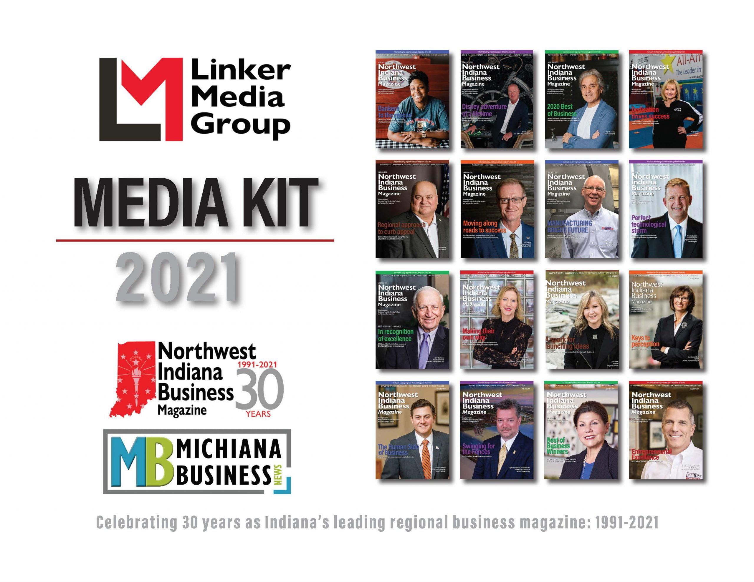 2021 Northwest Indiana Business Magazine Media Kit cover image