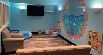 St. Jude family TV room renovation