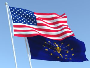 U.S. and Indiana Flag