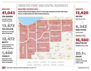 2022 Northwest Indiana media kit coverage area