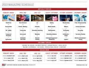2022 Northwest Indiana Business Magazine calendar